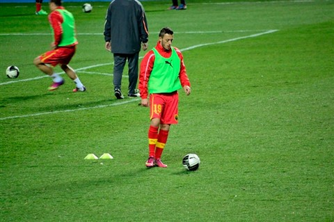Ibraimi prepare himself for the match