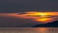Hazy sunset over Vancouver