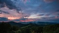 Sunset just after rain along the Blue Ridge Mountains near Boone, NC, USA