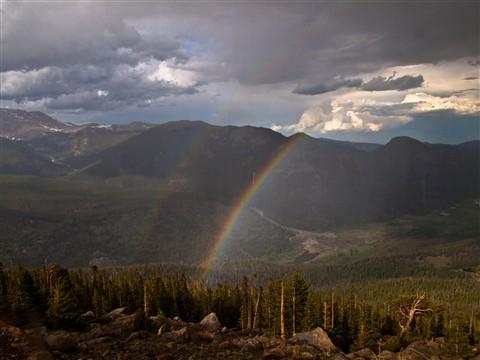 Dual rainbow Rocky mountain national park (1 of 1)