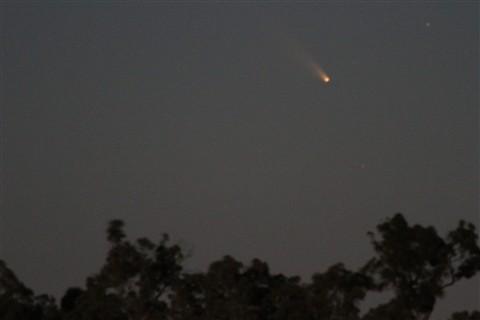 Comet C/2011 L4 PanSTARRS 27 Feb setting.