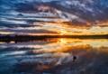 Drake Lake Sunset Colorado
