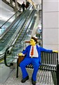 Lego Man by escalator