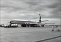 DeHavilland Comet 4 at Essendon Airport, Melbourne, 1961. Melbourne's first weekly jet service to the UK