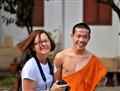 Fun after Evening Prayers in Laos