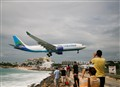 Air Caraibes landing at SXM airport