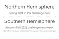 Challenge Announcement - North-South Hemisphere