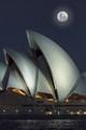 Moon above Sydney Opera House