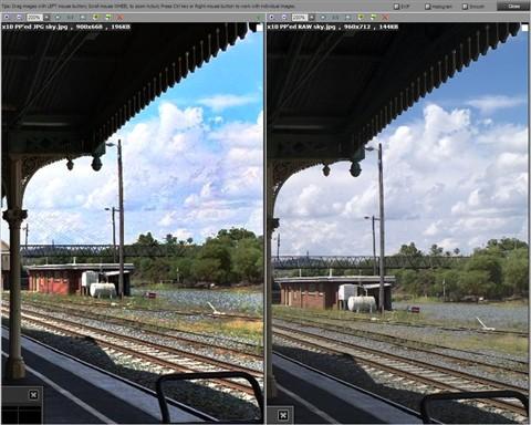 x10 skies jpeg vs raw PP