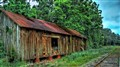 Old railroad barn