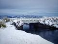 A break in the snow in the High Sierra.