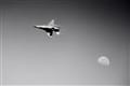 F16 verses the Moon