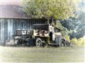 Truck in Retirement, Mendocino County, California.