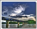 The Famous Bridge of the River Kwai, Kanchanaburi, in Thailand