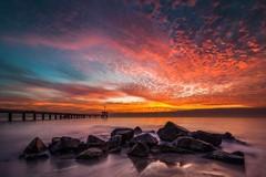 Long exposure during sunrise