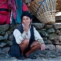 Smoking Break Time of a Nepali porter