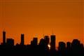 Brisbane sunrise skyline