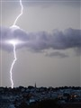Lightning strikes Saint-Cloud in Paris suburbs.