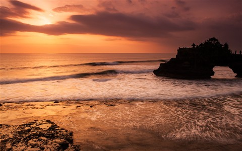 An Earthy Glow of Tanah Lot