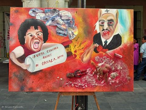 """""""Fuera Culises Ruin de Oaxaca"""" (Fuera Ulises Ruiz de Oaxaca)"""