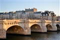 Sunset on Pont Neuf Bridge in Paris