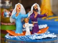 the Holy Family on surfing