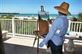 Artist at Venice, Florida