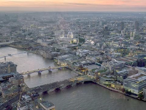 London sunset made look lighter