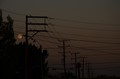 night, moon and wires