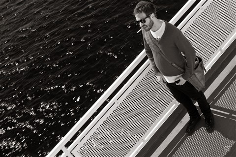 Hipster on the Ferry