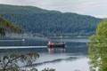 Vintage Steam Clyde Puffer on Loch Ness.