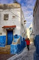 White Blue and Red in Rabat