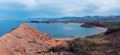 A view of our sailboat in Puerto Los Gatos, in the desert of Baja California Sur - Sea of Cortez.