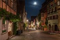 Full moon over Riquewihr (Alsace/France)