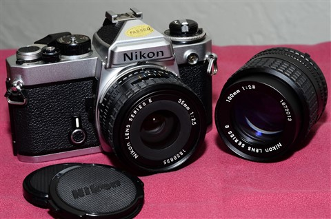 Nikon FE_35 f2.5E_100 f2.8E