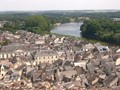 Rooftops below the Chateau de Chinon
