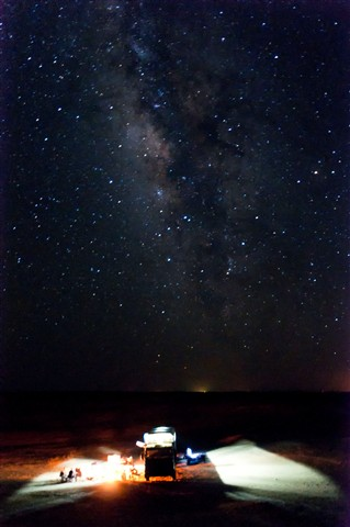 White Desert Milky Way