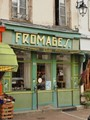 Store front in the city of Saulieu in France