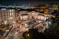 genoa italy central station plaza at night