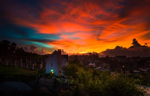Crazy Sunset over my house!