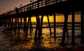 Sunset Over Imperial Beach Pier San Diego