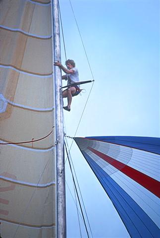Crewman up Mast, France 3