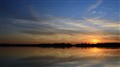 Sunset over Lake Palic