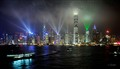 Laser light show Hong Kong Harbour