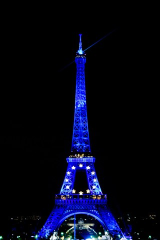 Eiffel Tower in blue 2