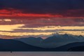 Sunset over Vancouver's North Shore Mountains