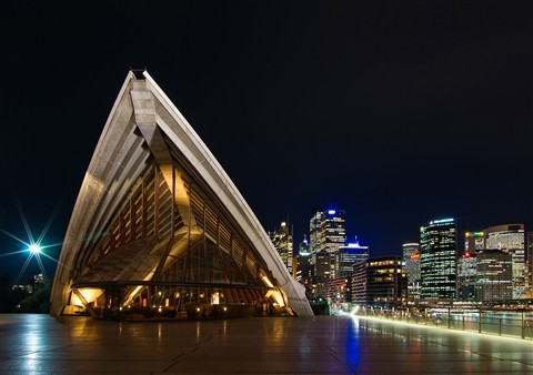 Sydney Opera House and Skyline at Night