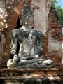 At Ayutthaya, old capital of Thailand