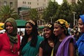 Sudanese dancers celebrating in SF