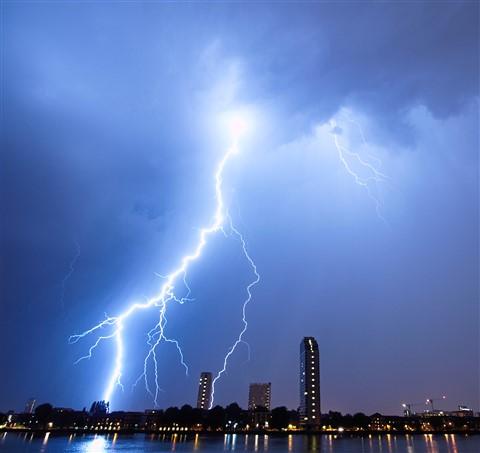 Lightning from the balcony